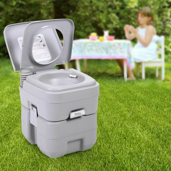 Portable Toilet 5 Gallon 20L Flush Travel Camping Outdoor Indoor Commode Potty $22.99