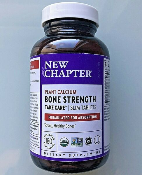 New Chapter: BONE STRENGTH Take Care 180 Slim Tablets Non GMO Value Size $41.99