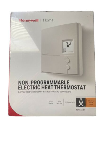 Honeywell Non Programmable Electric Heat Thermostat RLV3150A $29.99