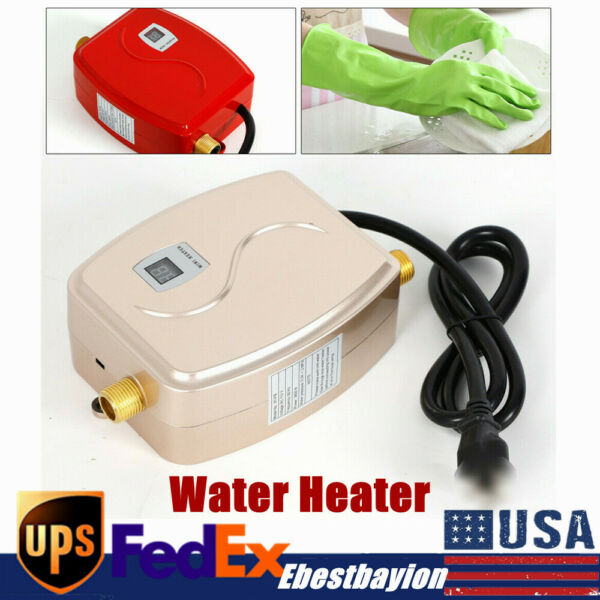 110V Electric 3000W Instant Water Heater Install Under the Kitchen Sink Washing $53.00
