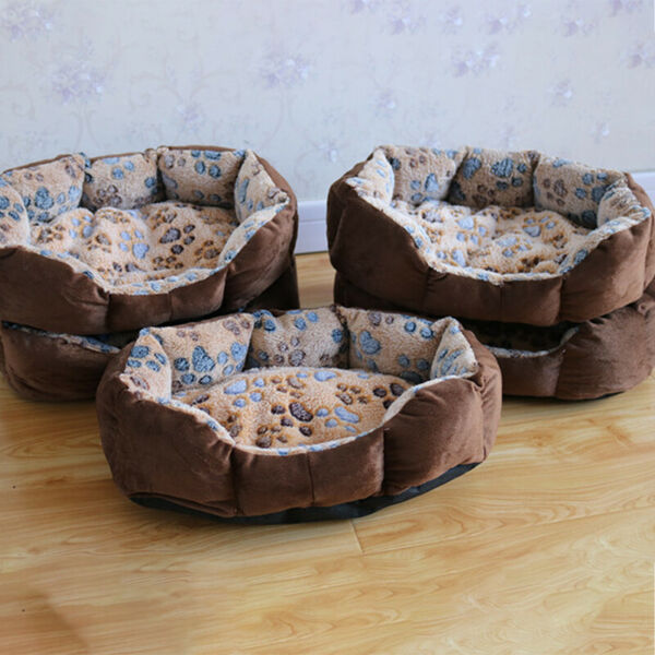 Pet Dog Beds Mats Soft Plush Warm Sofa Kennel Sleep Basket for Small Dogs Cat $7.01