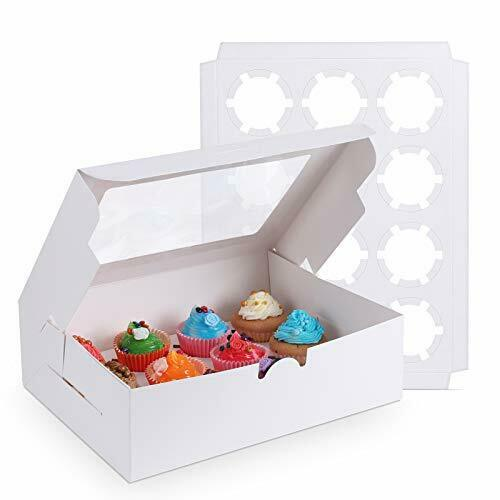 15 Packs White Cupcake Boxes 12 Holders Standard Cupcakes Cupcake Containers