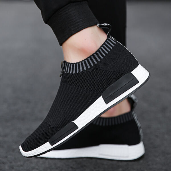 Men#x27;s Athletic Casual Sneakers Walking Tennis Slip on Shoes Gym Running Sports $22.99