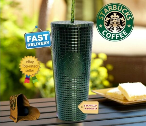 💖 STUDDED STARBUCKS Matte Black Tumbler 24oz Cup Double Wall GENUINE BRAND NEW