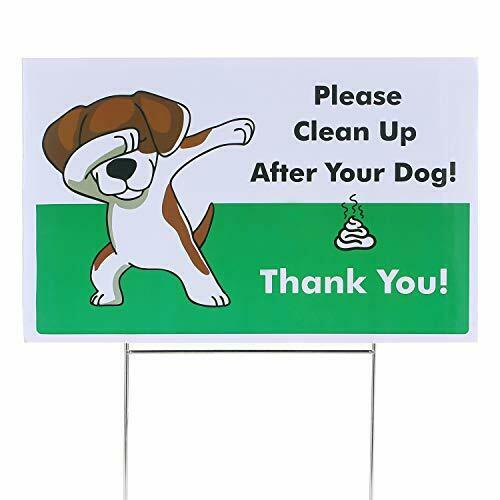 Yard Signs No Pooping Dog Signs for Yard Pick Up Your Dog Poop Signs Dog $10.62