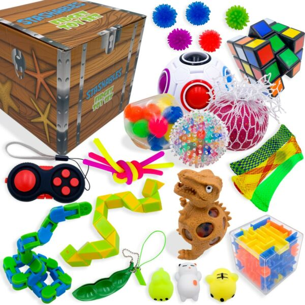 Sensory Fidget Toys Set 25 Pack Stress Relief and Anti Anxiety Toys for Kids