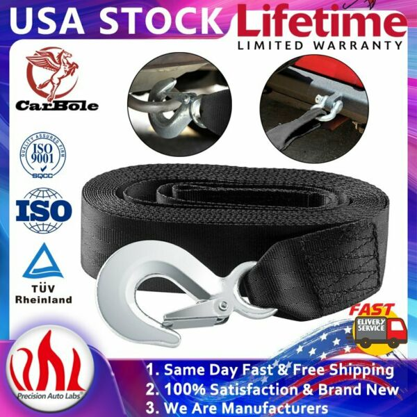 10000LB MAX DELUXE BOAT TRAILER REPLACEMENT WINCH STRAP 2quot;*20#x27; WITH SNAP HOOK $17.95