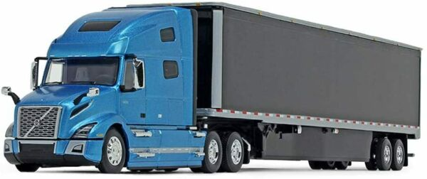 Volvo VNL 760 High Roof Sleeper Cab with 53#x27; Dry Goods Trailer 1 64 Diecast Mode $69.99
