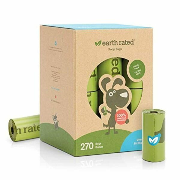 Earth Rated Dog Poop Bags Extra Thick 9 x 13 In 270 Bags 18 Rolls $15.52
