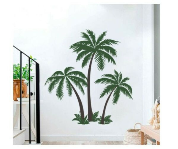 Palm Tree Wall Decals Tropical Tree Wall Stickers For Home Decor