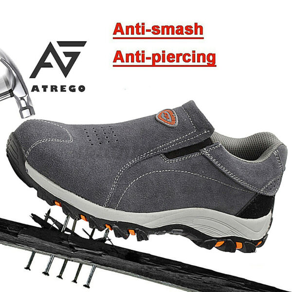 USA Mens Safety Shoes Indestructible Steel Toe Work Boots Suede Sneakers Hikin $33.24