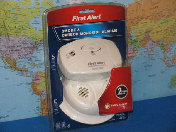 SMOKE amp; CARBON MONOXIDE ALARMS FIRST ALERT COMBO 2 PACK ***BRAND NEW*** $29.99