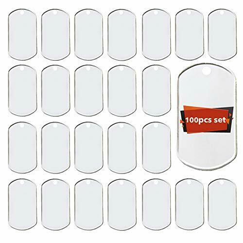 Youdepot 100PCS Blank Bulk Dog Tags for Stamping Engraving Shiny Stainless St... $34.25