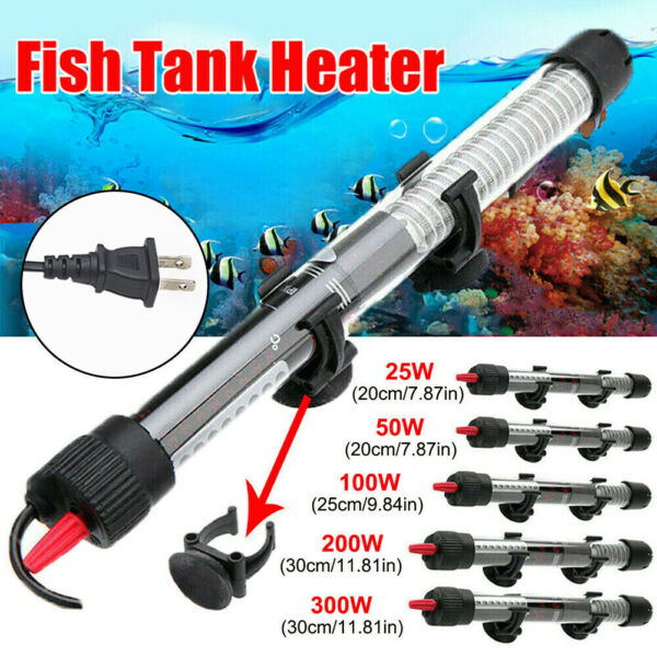 Submersible Aquarium Heater with Cover Guard Anti Explosion Fish Tank 25W 300W $9.99