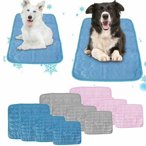 Pet Self Cooling Gel Mat For Floor Bed Crate Cool Dog Cushion Pad Indoor Outdoor $10.99