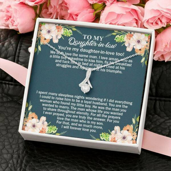 To My Daughter in law Unique Gift Alluring Beauty Necklace Luxury Box FREE SHIP $24.99