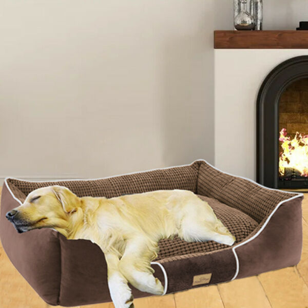 Orthopedic Memory Foam Dog Bed Waterproof Bolster Beds for Extra Large Dogs $25.96