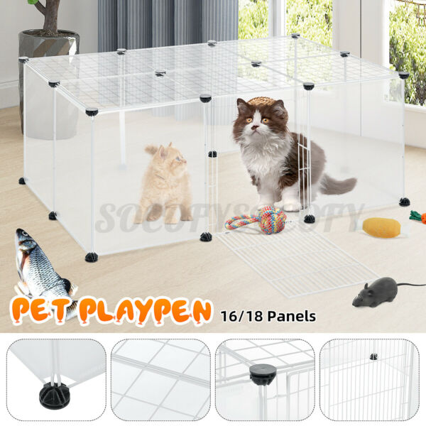 40 Inch 18 Panels Tall Dog Playpen Large Crate Fence Pet Play Pen Exercise Cage