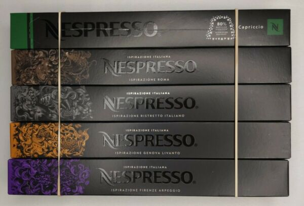 Nespresso Capsules Ispirazione Best Seller Variety Pack 50 Count