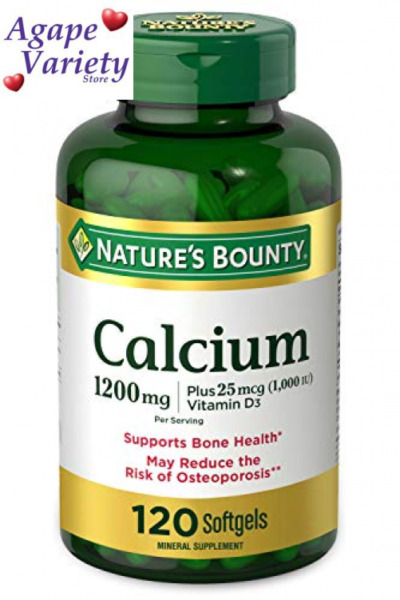 Calcium Carbonate amp; Vitamin D by Nature#x27;s 120 Count Pack of 1 Green $17.09