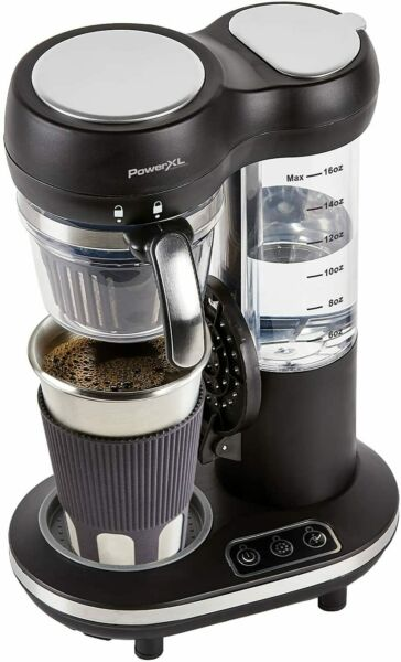 PowerXL Grind amp; Go Automatic Single Serve Coffee Maker Grinder Built in 16oz