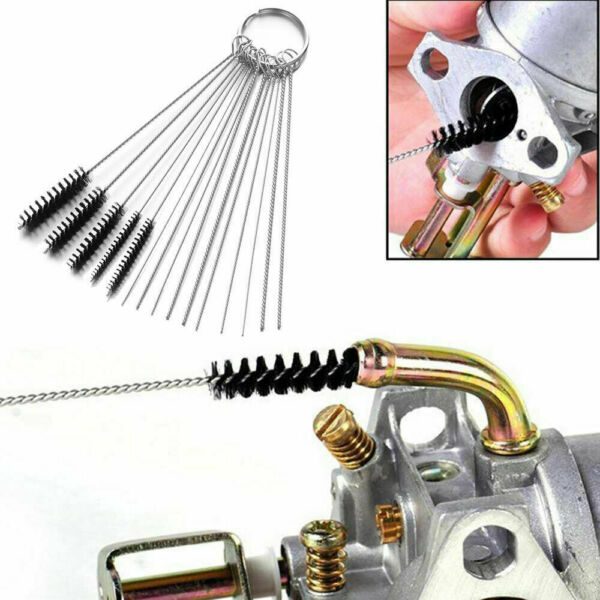 18 in 1 Motorcycle Carb Cleaning Brush Deposit Jet Remove Tool Kit for Honda $12.31