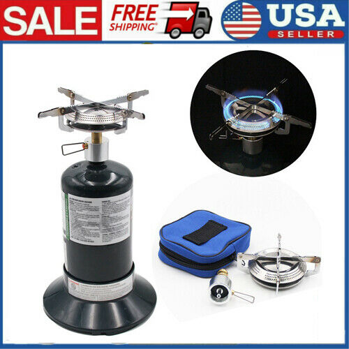 Propane Gas Stove Travel Portable Gas Stove Outdoor Camping Burners Stove C6H6