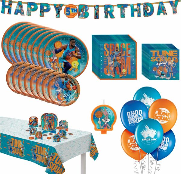 Space Jam 2 Birthday Party Supplies for 16 Tableware Décor Candle Balloons