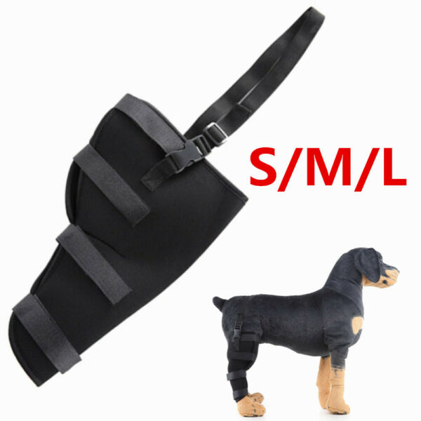Pet Dog Leg Brace Hock Joint Knee Support Rear Therapeutic Brace Wrap Protector $8.69