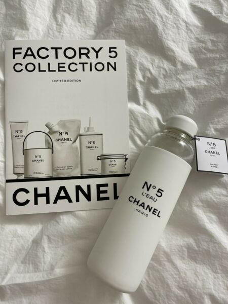 Chanel Factory 5 Water Bottle with Limited Edition Booklet $290.00