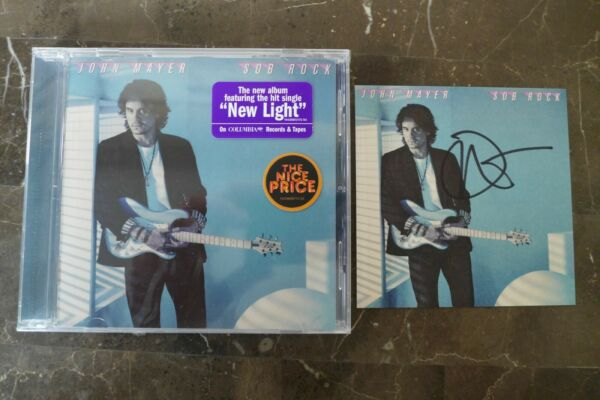 JOHN MAYER AUTOGRAPHED quot;SOB ROCKquot; SIGNED ART CARD AND NEW SEALED CD 2021 $48.00