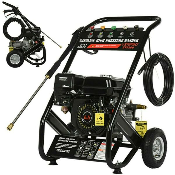 4 Stroke Gas Cold Water Pressure Washer 3000PSI 6.5HP 3600RPM High Power Cleaner $299.99