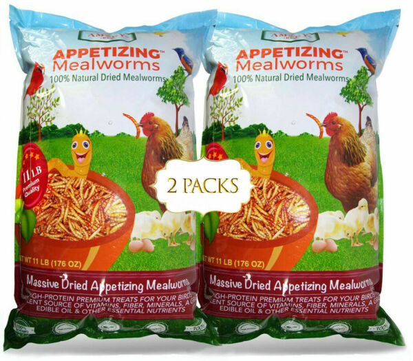 Dried Mealworms 22 LBS 100% Natural for Chicken Feed Bird Turtle Fish Duck Food $129.95