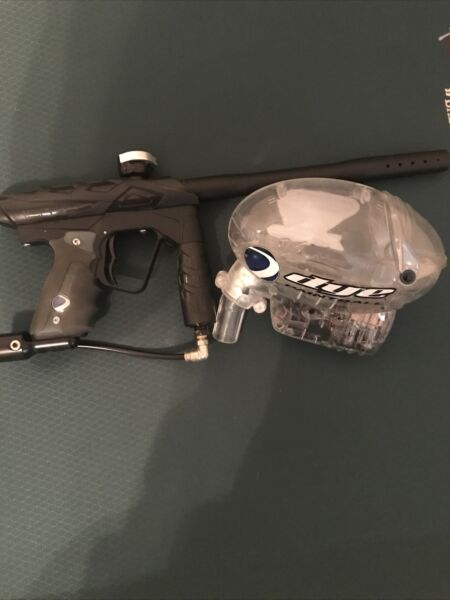 Smart Parts ion Paintball Marker Gun with Evolution hopper..NOT TESTED AS IS $120.00