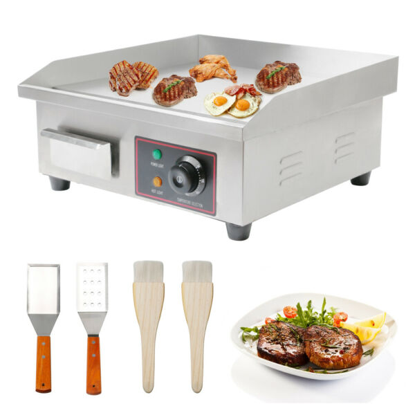 3000W 22quot; Commercial Electric Countertop Griddle Flat Top Grill Hot Plate BBQ US