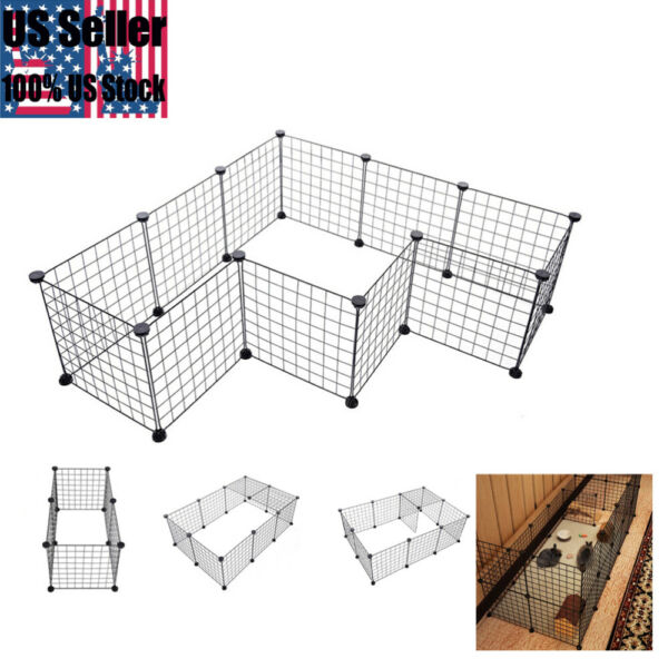 Folding Portable Pets Dog Crate Metal Dog Crates Cage for Dog Cat Rabbit 35*35CM $26.94