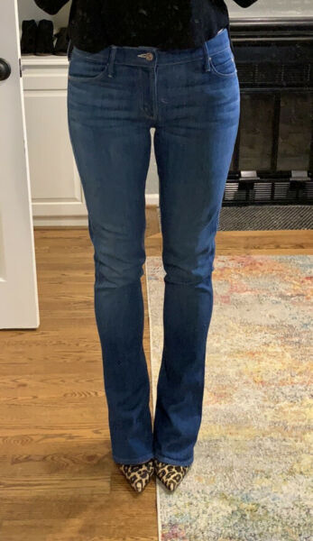 """Mother """"The Runway"""" Light Wash Denim Jeans with Flare at Ankle. Size 28"""