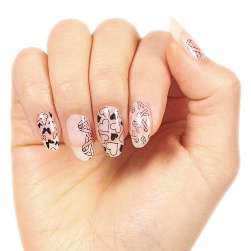 NEW Color Street For the Cause Clear Nail Art Strip Awareness Ribbon Butterfly $9.98