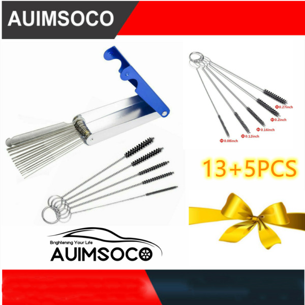 Stainless Carburetor Carb Cleaning Jet Cleaner Kit Tool Set For Motorcycle ATV $10.07