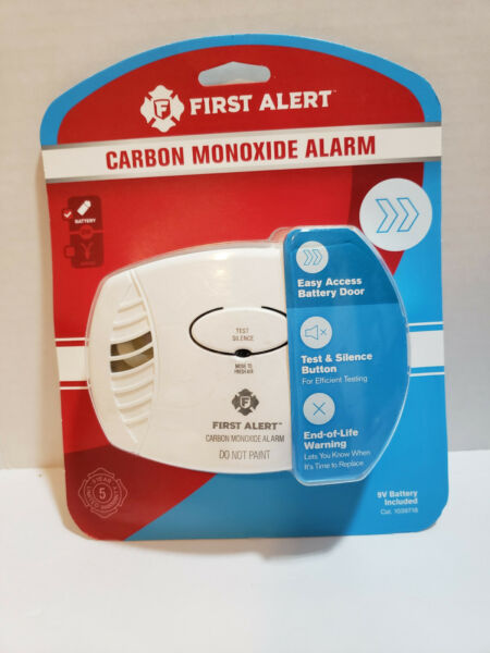 New FIRST ALERT Carbon Monoxide Alarm Battery Operated 9V Included $15.99
