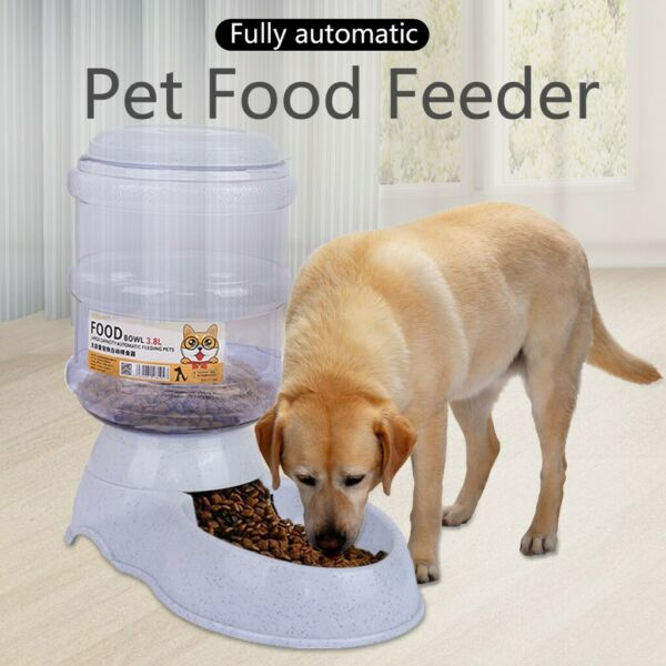 Pet Cat Dog Automatic Feeders Dispenser Automatic Gravity Feeders Bottle Stand $18.99