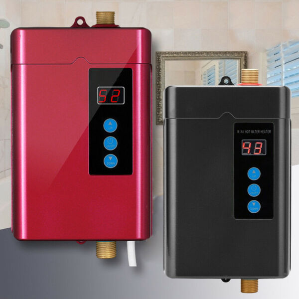110V Electric Hot Tankless Water Heater Shower Instant Heater Bathroom Kitchen $77.09