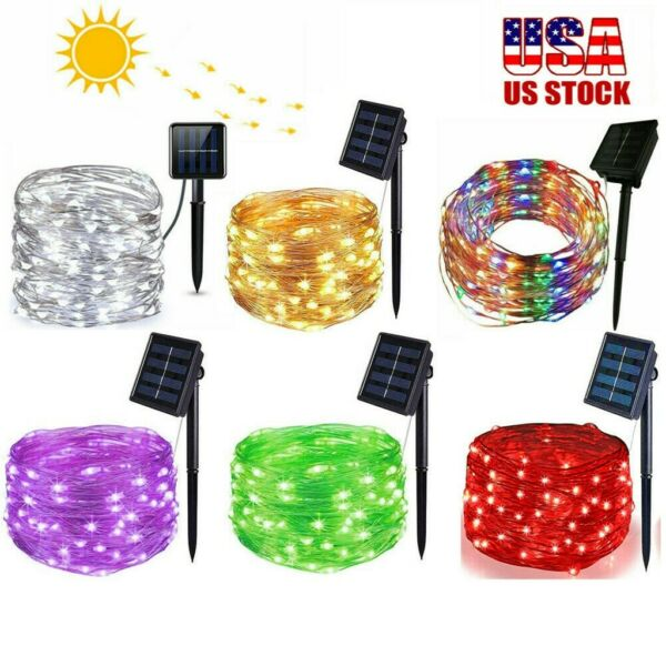 LED Solar String Lights Copper wire Outdoor Party Xmas Garden Decor Waterproof $9.26