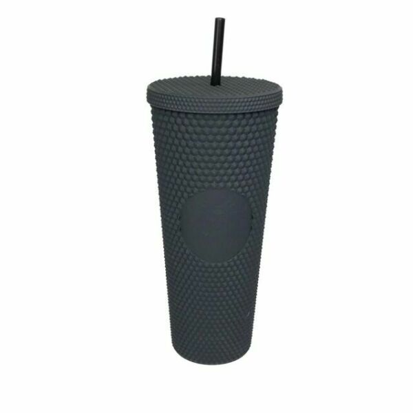 STUDDED STARBUCKS Matte Black Tumbler 24oz Cup Double Wall GENUINE BRAND NEW