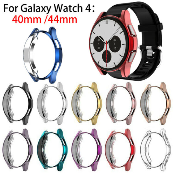 For Samsung Galaxy Watch 4 40 44mm TPU Full Protect Screen Protector Case Cover