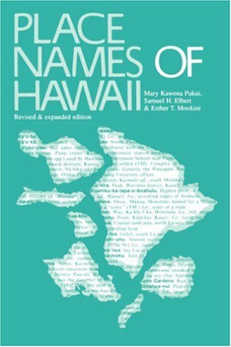 Pukui Mary K. Place Names Of Hawaii BOOK NEW