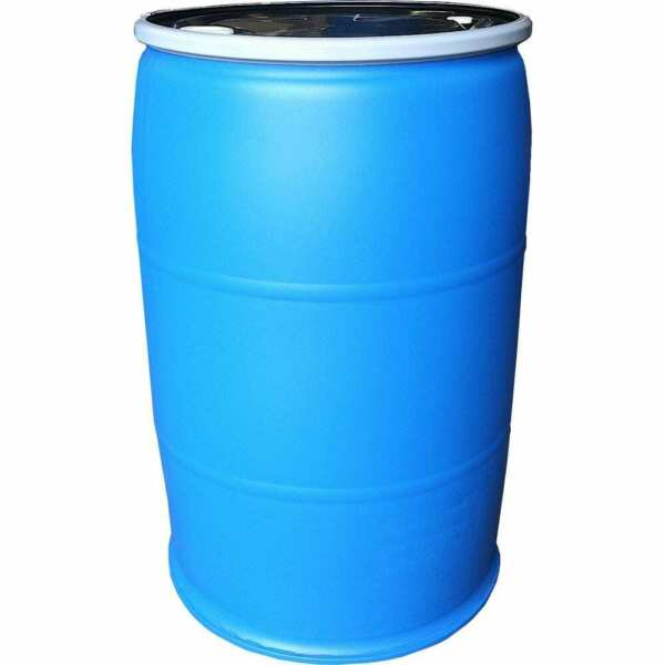 55 Gal. Open Top Plastic Industrial Drum with Lid and Lock Band Water Container $277.95