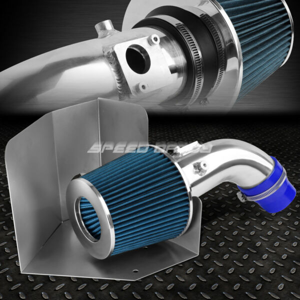 FOR 07 09 TOYOTA CAMRY I4 2.4 ALUMINUM 3quot;COLD AIR INTAKEBLUE FILTERHEAT SHIELD $55.77
