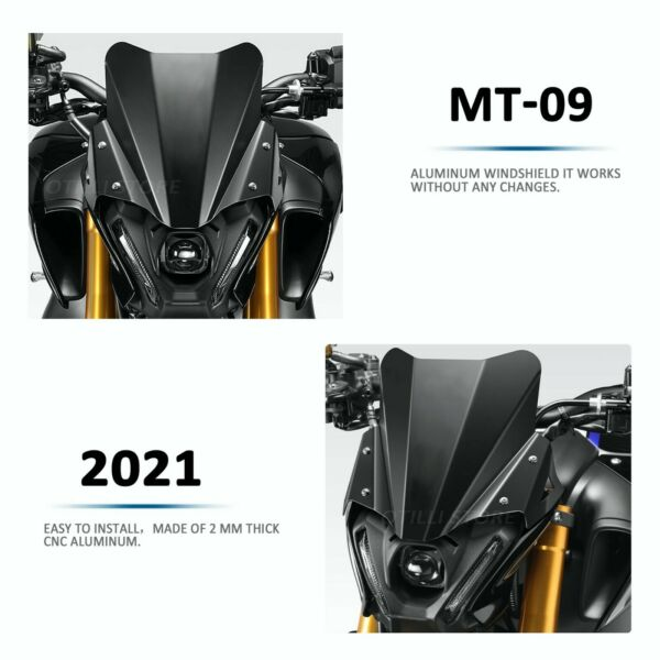 FIT FOR YAMAHA MT 09 2021 Motorcycle Windshield Wind Shield Deflector $35.00