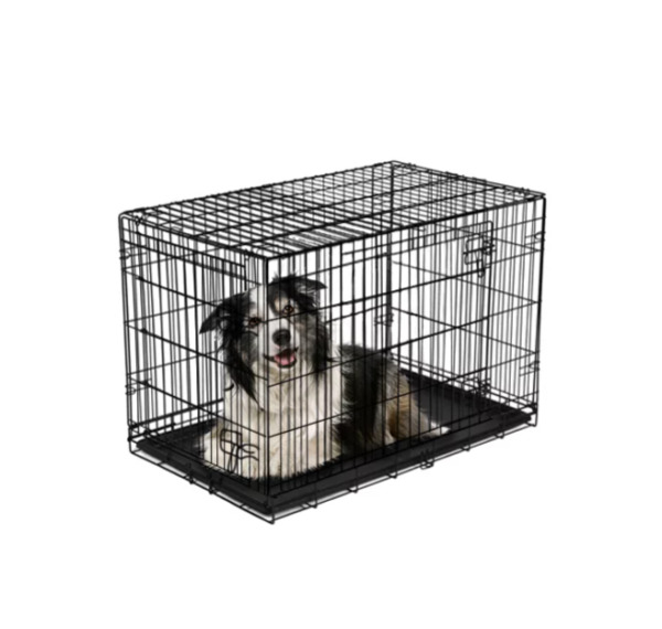 Double Door Folding Dog Crate with Divider X Large 42quot; $49.99